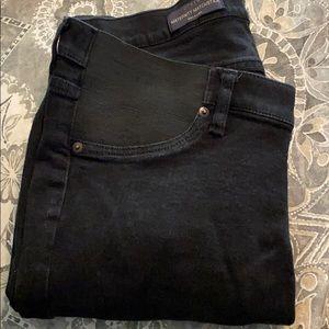 Black J Crew maternity matchstick jeans